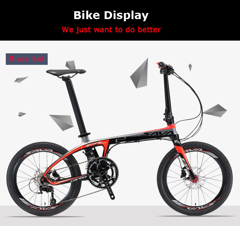 SAVA 5800 group set 20 inch small folding bicycle best quality Carbon frame 22 speed fast folding bicycle