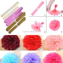 Tissue Hanging Paper Pompoms / Paper Flower Ball Wedding Party Outdoor Decoration