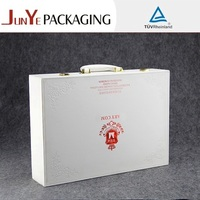 Top quality luxury suitcase shaped gift box small paper mache box suitcase