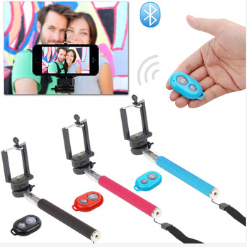 drop shipper products for handheld selfie stick monopod and bluetooth remote shutter