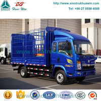 small delivery van price for sale 3Ton sinotruk howo 4x2 hight fence carriage truck