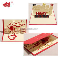 Customized cheap and good quality stereoscopic happy birthday 3d greeting cards