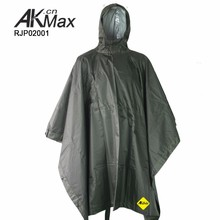 Military Poncho Olive Green Police Poncho Raincoat