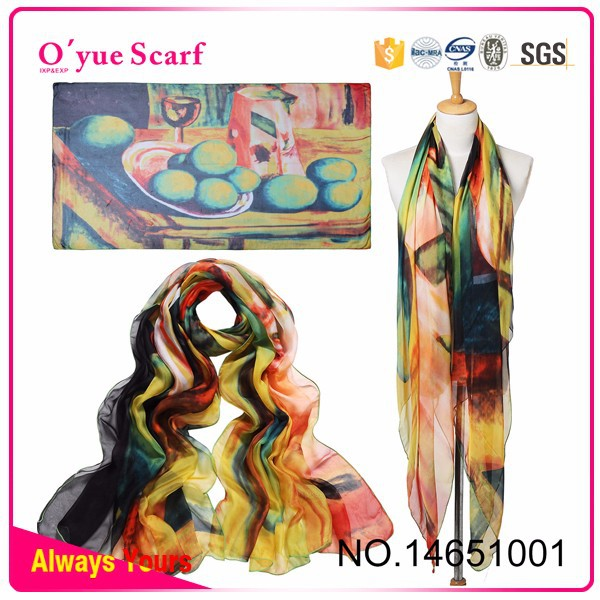 New Design Lady Spring ladies feel silk neck fake designer silk scarves