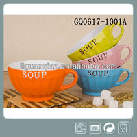 liling summer stoneware soup mug with handle