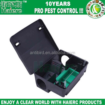 Haierc manufacturer multi catch mouse trap plastic control box plastic mouse rat rodent bait station