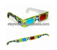 printed paper 3D glasses with customized logo printing