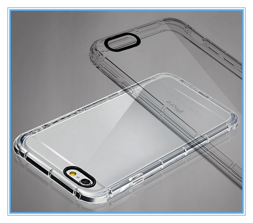 full protective shockproof clear phone case for iphone6