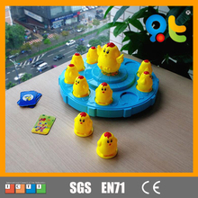 Interesting educational plastic pairing chicken toy game for kids