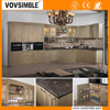 Solid wood kitchen cabinet with customized kitchen cabinet designs made in China