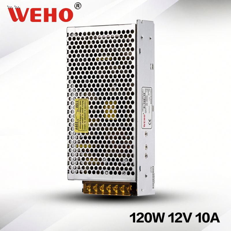 high efficiency 12v 10a switching power supply for led