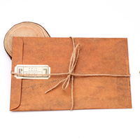New Arrival Custom Kraft Paper Ticket Envelopes With String
