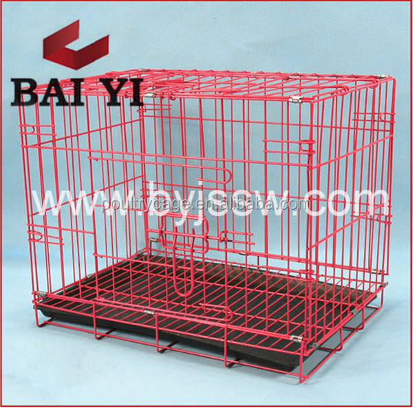 Baiyi Hot Sale Galvanized Metal /Display Dog Cage With Plastic Pallet
