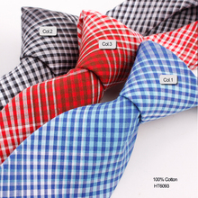 High Quality Cotton Twill Grid Tie