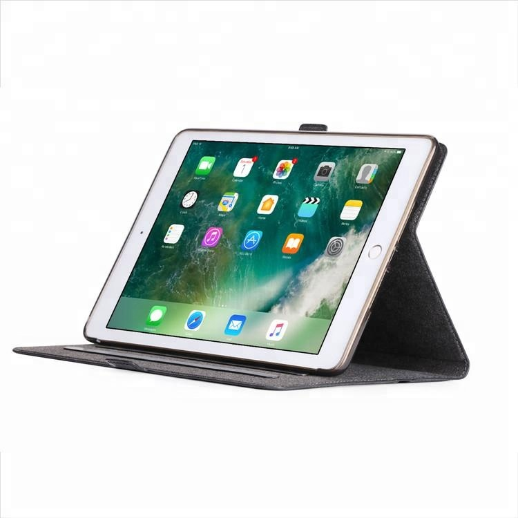 Genuine leather wallet tablet case for iPad 9.7 2017