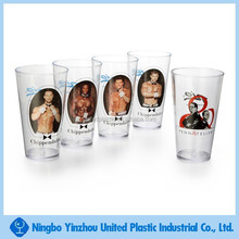 hot new product 16 oz plastic custom beer drinking cup