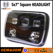 "5x7"" Led Square Headlights Led working light for truck auto square led headlight"