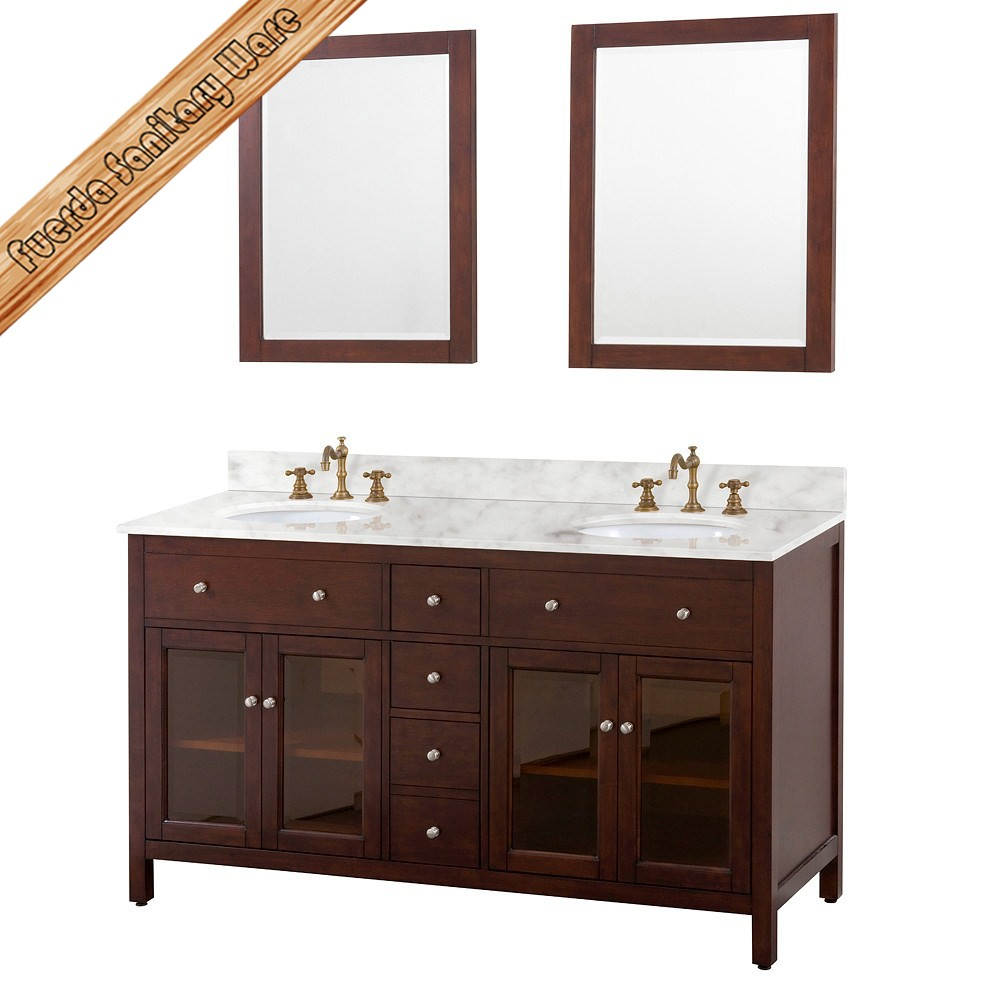 Modern 36 inch glass sliding door solid wood bathroom cabinet buy modern bathroom cabinets Solid wood bathroom vanities cabinets