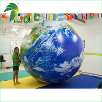 UV Printing Giant Inflatable Globe Ball , Inflatable Earth Globe , Big Size World Globe For Advertising