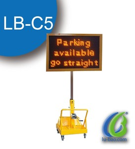 Cheap price durable solar traffic warning sign trailer for highway construction LB-C5 ingegerB