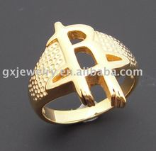 stainless steel jewelry/fashion steel ring/casting/gold plating ring