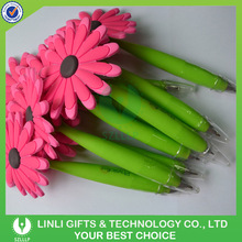 Logo Printed Promotional Silicon Flower Pen