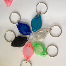 cheapest uv led light keychain,led light up keychain light as souvenir gift CH-9006