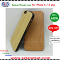 2016 New and hot sale pc and real wooden cover for iphone 6 wooden cases IPC363