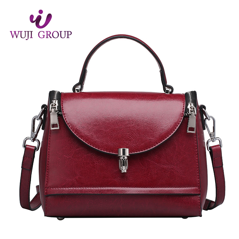 Top Grain Lady Leather Women's flap messenger Women Leather Bag for Shopping