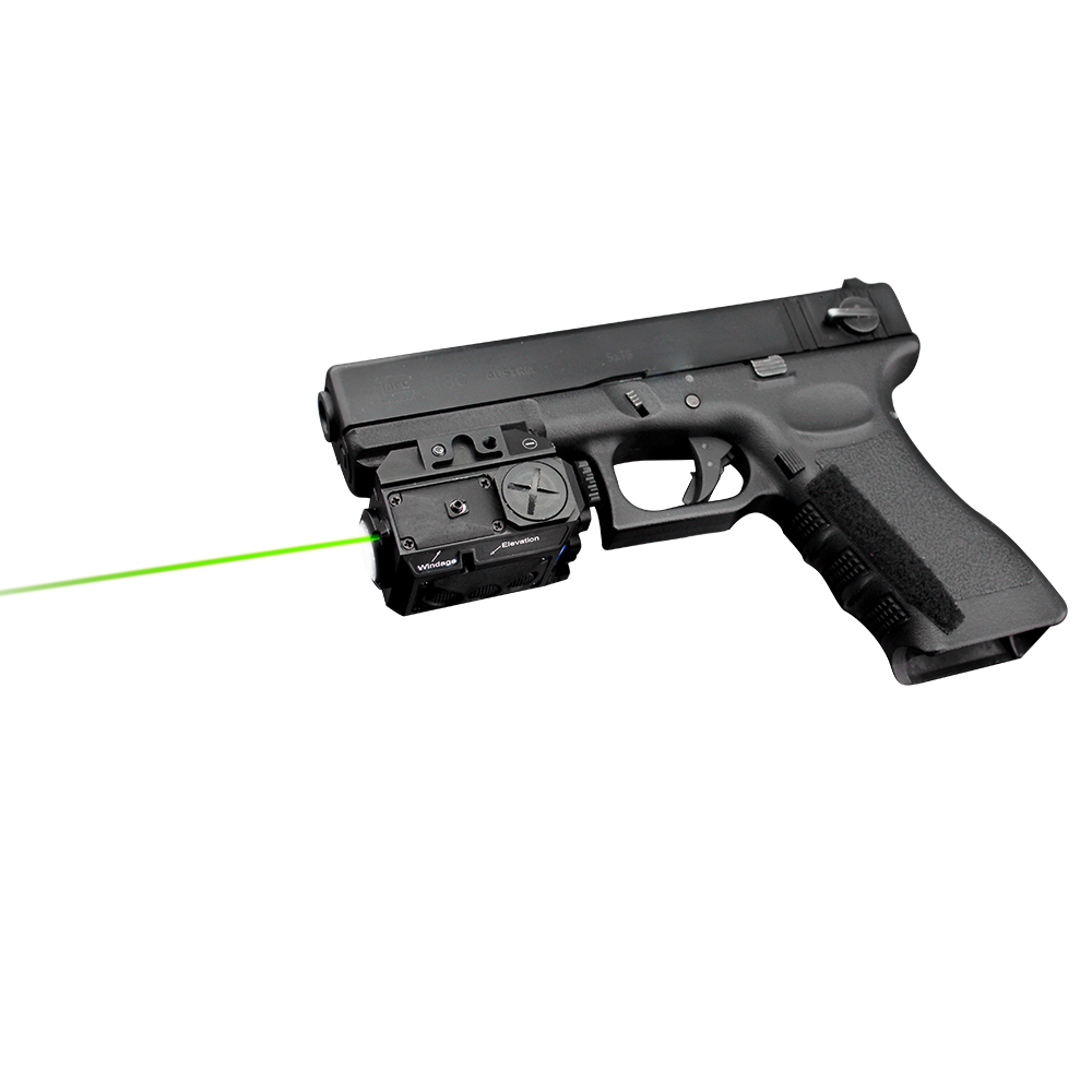 Visible day or night and indoors outdoors aiming red laser pointer