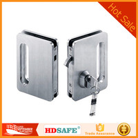 stainless steel glass door lock for supplier made in Foshan with high quality