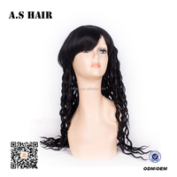 Top quality wholesale price african american synthetic long hair full lace synthetic hair wig for women