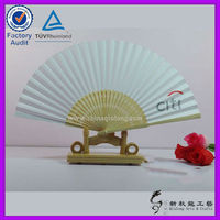 Chinese Promotional Bamboo Paper Hand Fan Custom Printed Folding Hand Fan