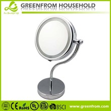 double sides beauty cosmetic mirror with light