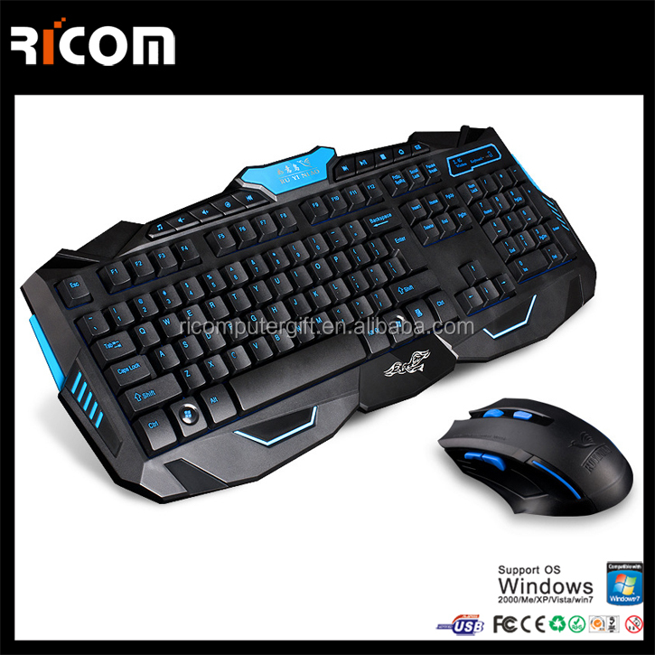 Ricom gaming keyboard and mouse,Ricom backlit gaming keyboard,gaming wireless keyboard and mouse LK610A Shenzhen Ricom