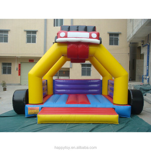 HI CE best quality PVC inflatable school bus bounce house for kids games