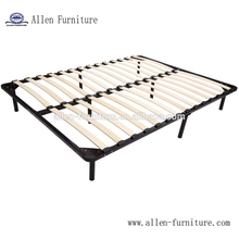 Hot Sale Cheap Queen Size Wooden Slats Platform Metal Wooden Bed Frame