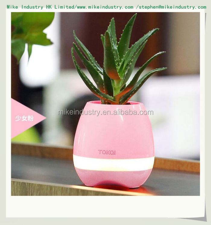 2017 foreign trade products plastic flower pot Bluetooth speaker smart flower pot mini speaker music for pot and for