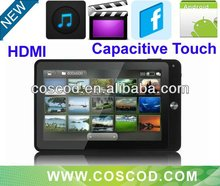 7 inch Capacitive Touch Tablet pc,leather keyboard case for MID
