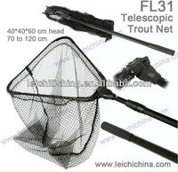 long handle rubber fishing telescopic landing net