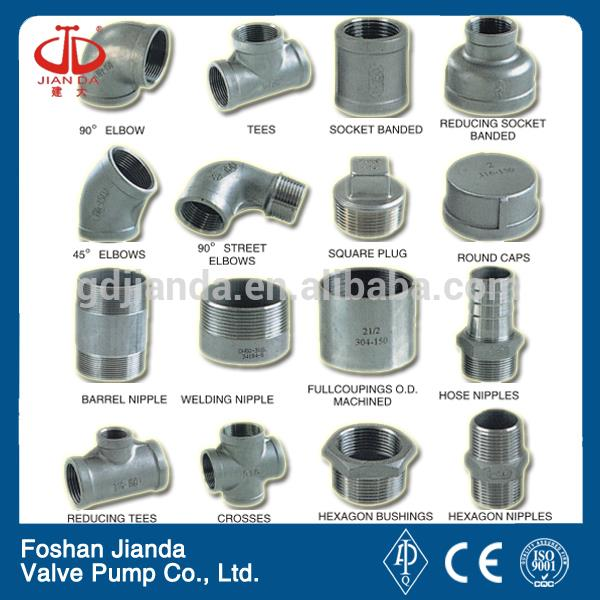 black cast iron screw pipe fitting cross