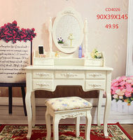 Good quality hot selling bedroom mirrored dressing table sets