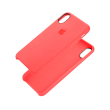 China red for iphone 6plus original hand case with liquid silicon shield of liquid silica gel shield hard