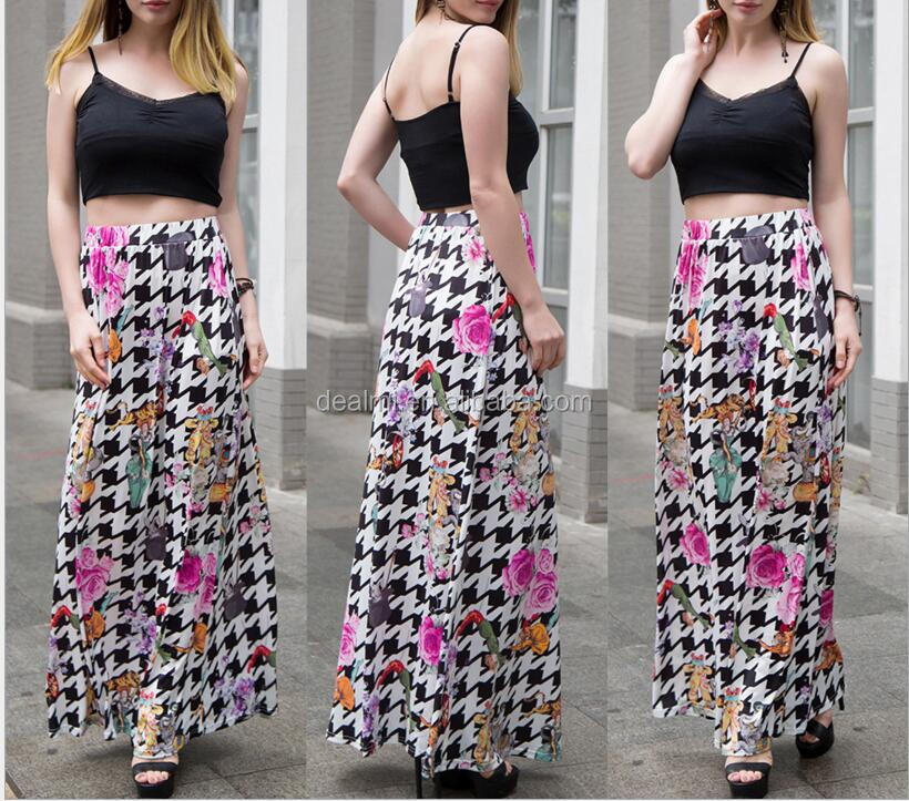 DEMIZXX317 Wholesale Custom Ladies Fashion New Design Elegant Long Tulle Skirt Trendy Lady's Polyester Design New Maxi Skirt
