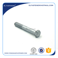 High tensile grade 4.8 galvanized DIN931 hex head bolt