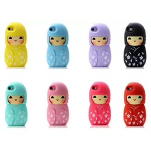 cartoon cute Japanese kimono doll soft silicone case For iphone 5 5g 5s 6 6s plus s3/s4/s4 mini