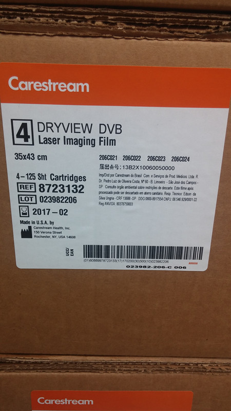 Made in USA Kodak x-ray film Carestream Dryview DVB Laser Imaging FILM