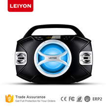 Boombox Black Edition Portable Music System with CD Player & USB/SD/MMC Slot, Digital FM Radio with Auxiliary-in