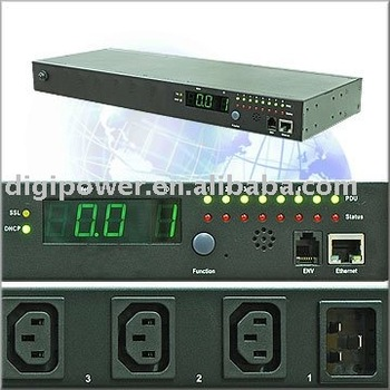 8 ports 230V 10 amp IP PDU Per Outlet Monitored/Switched