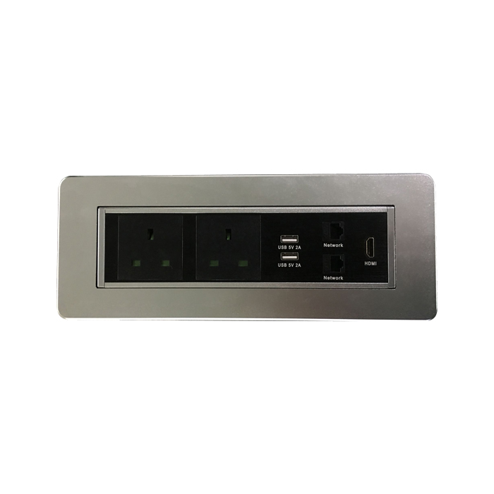 Manual Dual USB Port Desktop Socket,Manual Rotating Table Socket Outlet Meeting room